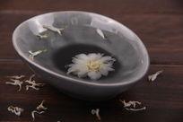 水墨白菊花花茶