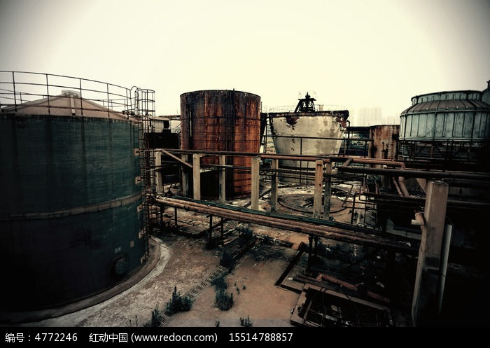 废弃工厂图片,高清大图