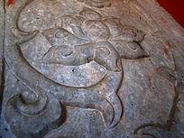 古代莲花的石雕刻