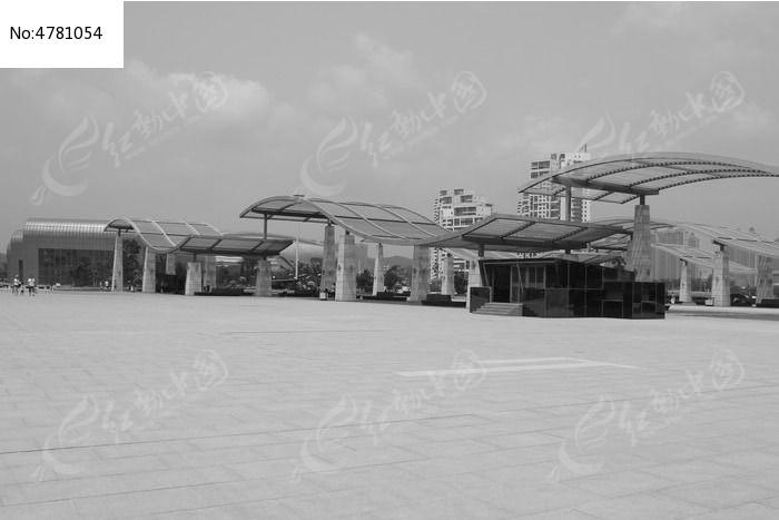 葫芦岛龙湾广场黑白摄影图片,高清大图_滨海建筑素材