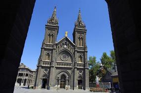 哥特式建筑大教堂