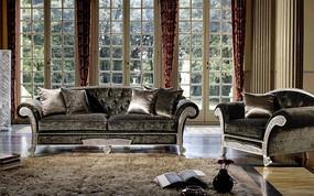 古典沙发背景