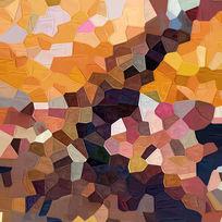 色块抽象画