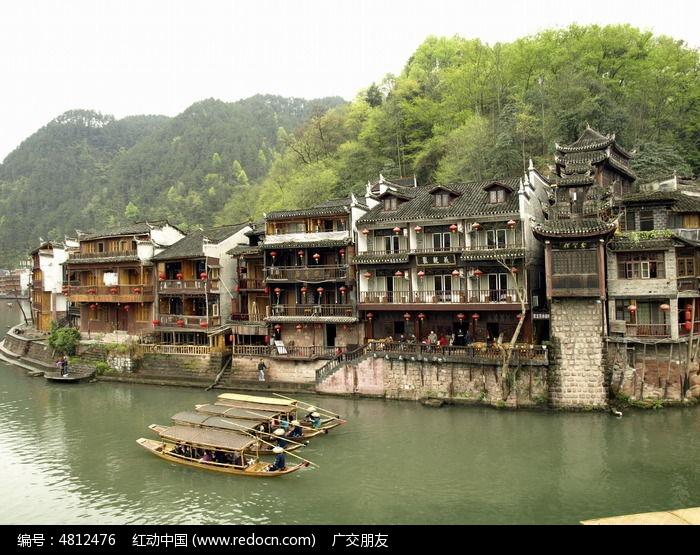 湖南凤凰古城古建筑图片