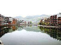 湖南凤凰古城古建筑特写图片