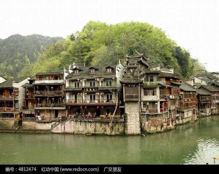湖南凤凰古城古建筑图图片