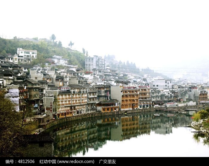 湖南湘西凤凰古城古建筑特写图图片