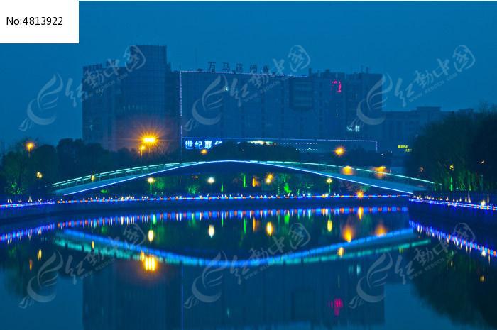 柳叶桥夜景图片,高清大图_桥梁锁道素材