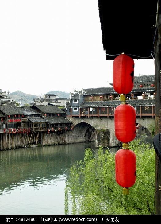湘西凤凰古城古建筑图片图片