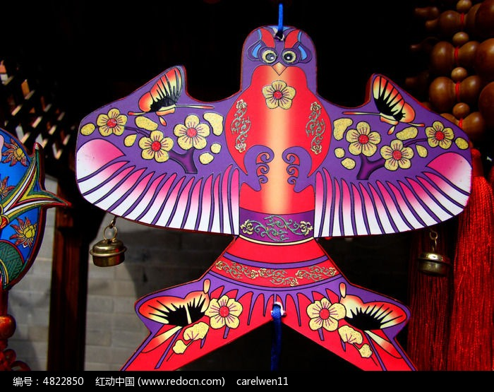 传统艺术手绘风筝