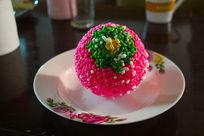 粉色爆米花