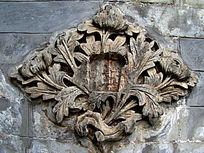古代独特的植物图案雕刻