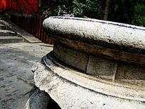 汉代古香炉底座侧面