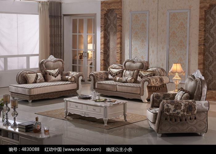 欧式布艺沙发图片,高清大图