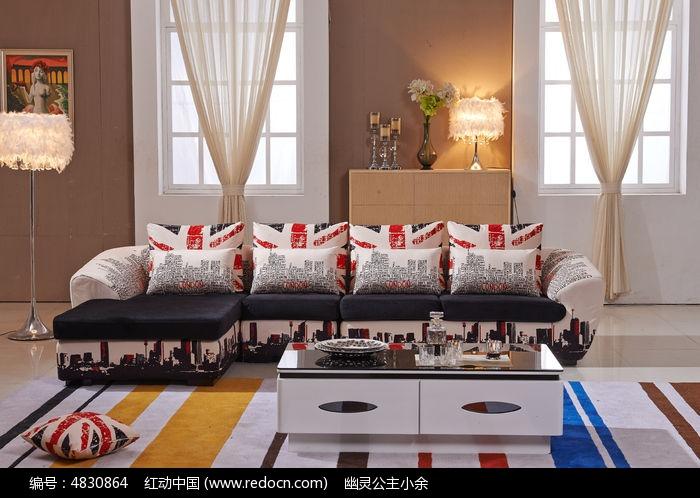 现代中式沙发高清图片下载(编号4830864)_红动网图片