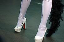 白色长腿袜