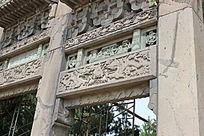 东陵外牌坊雕刻摄影图片