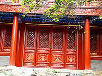 复古漂亮的红门