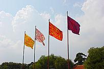 满清八旗摄影图片