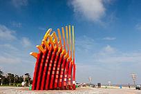 南海新区海边广场地标艺术造型
