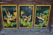 永济桥的漆画