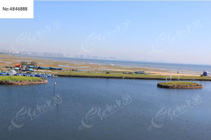 秦皇岛鸽子窝公园海滩图片
