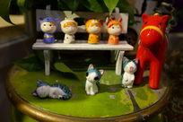 有趣陶瓷猫咪