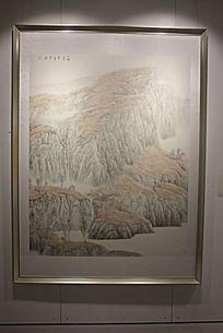 秋天的荒山水墨画图片