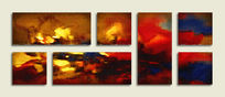 抽象现代简约抽象画