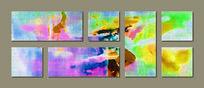 多联抽象画现代简约风格画