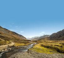 高山上的溪流