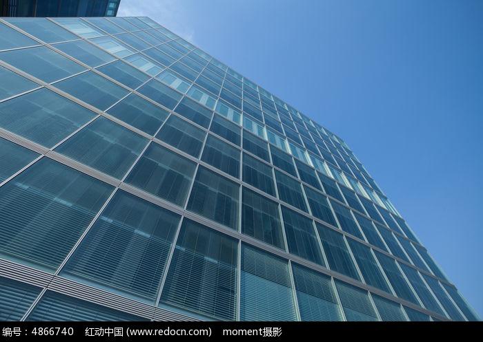 蓝色玻璃墙面图片,高清大图_高楼大厦素材