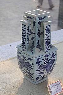青龙凤凰花瓶