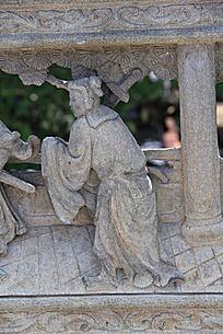 童子石刻雕塑作品
