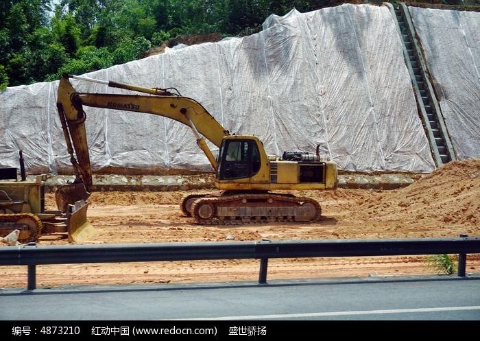 挖土机图片,高清大图_道路交通素材