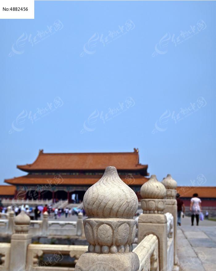北京故宫汉白玉柱子图片