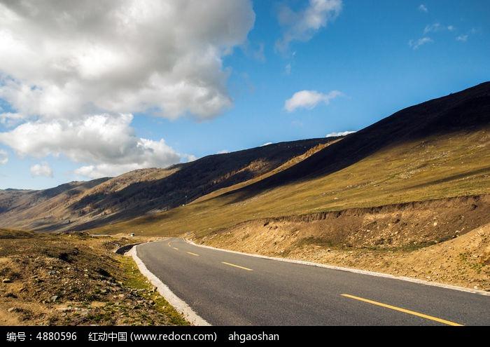 草原上的公路图片