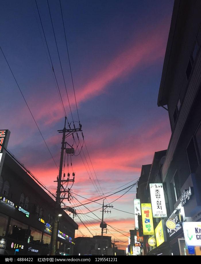 韩国街道图片,高清大图