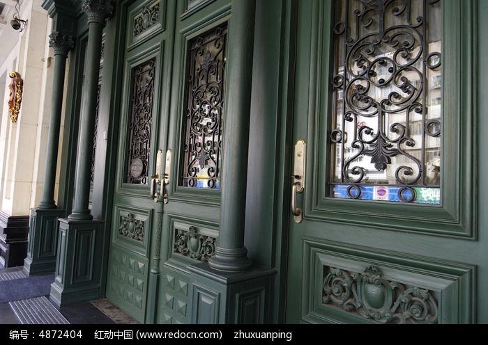 欧式建筑门窗特写图片