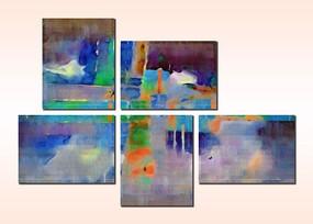 三联画无框画装饰画背景墙