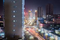 新疆乌鲁木齐建筑夜景