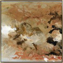 怀旧抽象油画