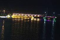 乌海湖大桥夜景图