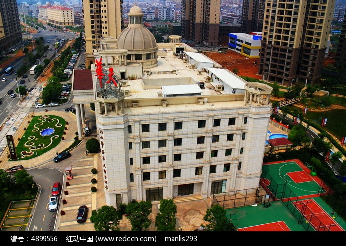 白色欧式建筑华天商务酒店外观