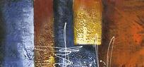 抽象画 色块抽象油画