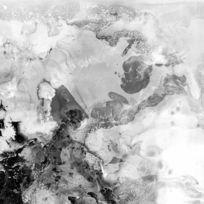 抽象 中式风格画 黑白画