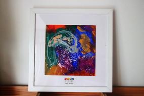 儿童美术抽象色彩装饰画