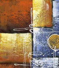 厚油抽象油画 油画笔触