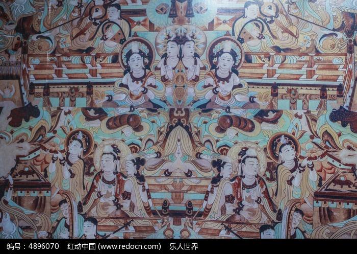 唐朝敦煌壁画图片