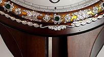 金属宝石花纹雕刻钟表浮雕装饰艺术